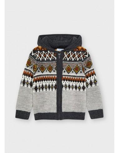 Canguro tricot jacquard - Dove vig