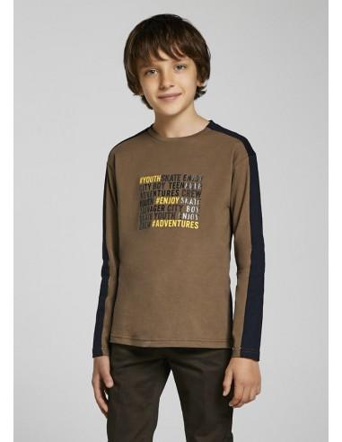 Camiseta m/l contrastes - Nutria