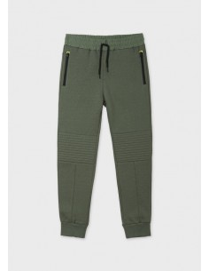 Pantalon felpa contraste...