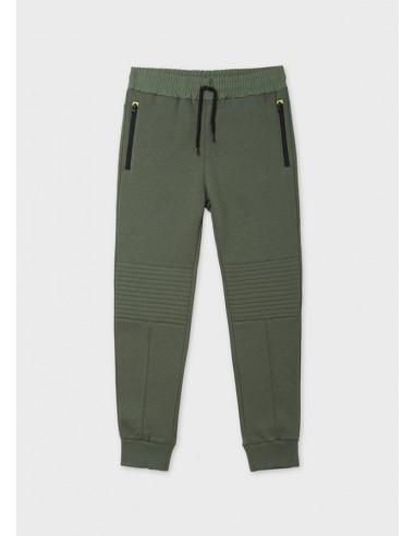 Pantalon felpa contraste plan -...