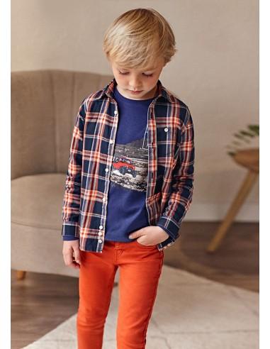 Pantalon soft slim - Naranja
