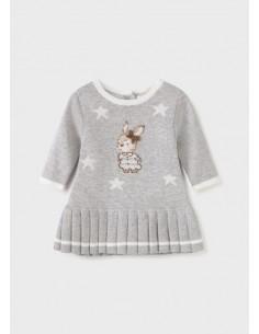 Vestido tricot - Gris vig