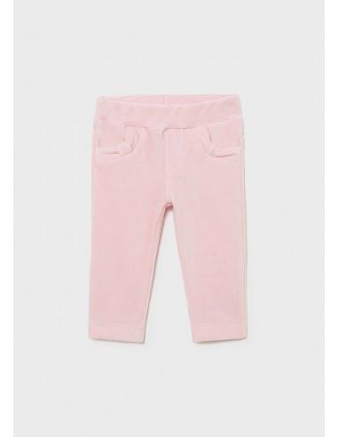 Pantalon punto pana basico - Rosa