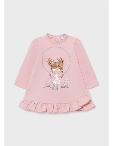 Vestido felpa muñeca - Rosa