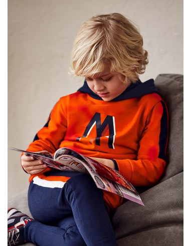 Chandal 1p pullover capucha - Naranja