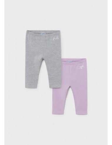 Set 2 leggings basicos - Plata vig