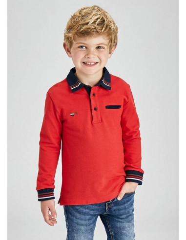 Polo m/l vestir - Rojo