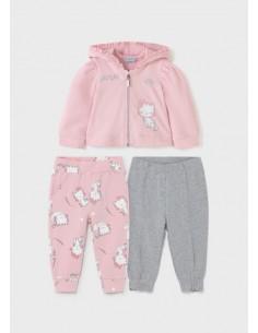 Chandal 2 pantalones - Rosa...