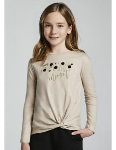 Camiseta m/l blotch - Avena...