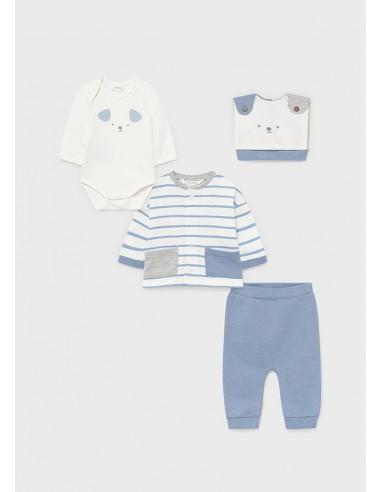 Conj. punto - Baby blue