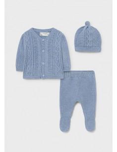 Conj. polaina tricot - Nube...