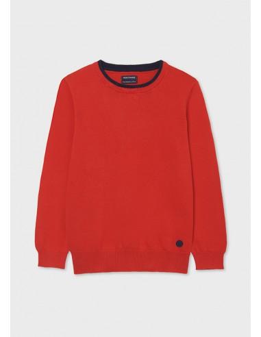 Jersey algodon basico - Rojo mez