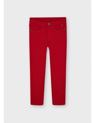 Pantalon 5b slim fit basico - Rojo