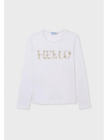 Camiseta m/l basica - Blanco