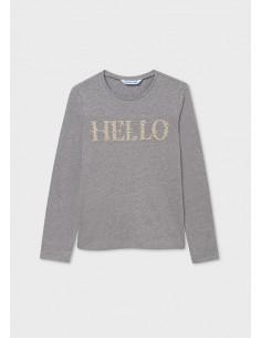 Camiseta m/l basica - Acero...