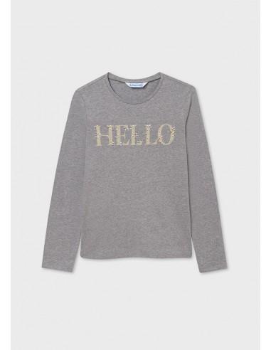 Camiseta m/l basica - Acero vig