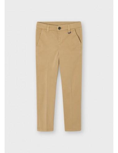 Pantalon chino basico - Nuez