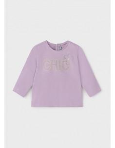 Camiseta m/l basica - Lila