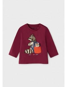 Camiseta m/l play mapache -...